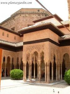 El Patio de los leones en La Alhambra