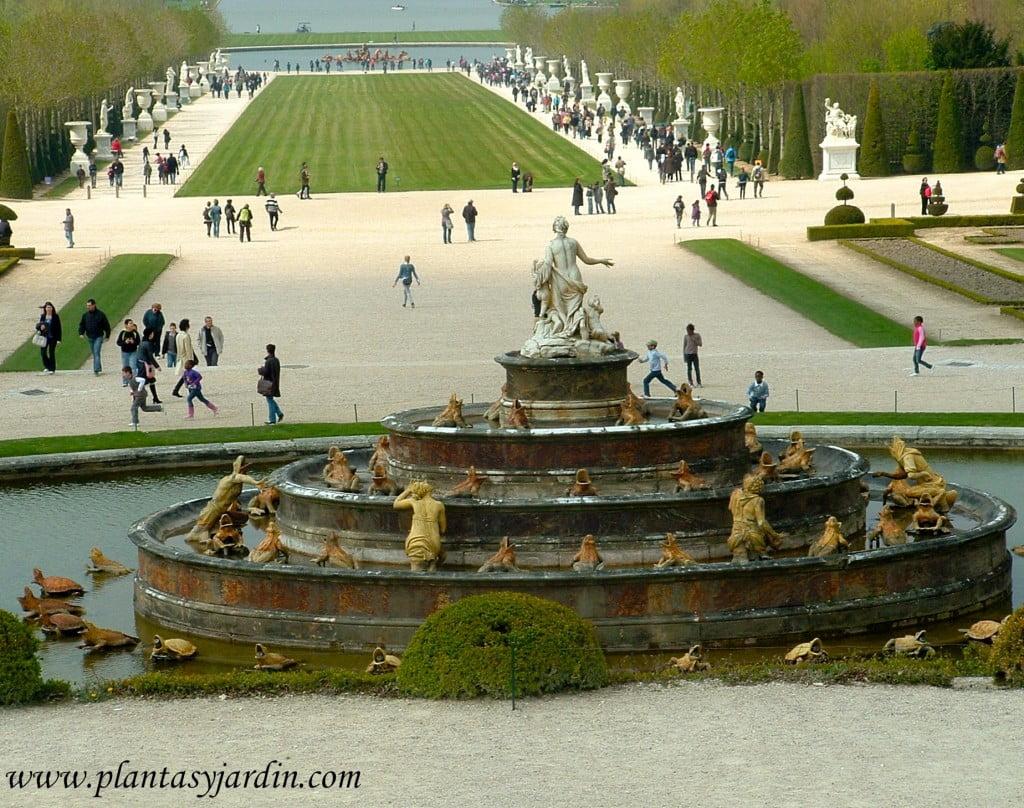 Fuente de Latone en los Jardines de Versalles