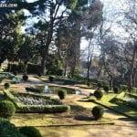 parterres con plantines de estacion en el Parque del Laberinto de Horta
