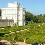 Parterres del Giardino segreto,fachada oeste del Palacio de la Villa Pamphili.