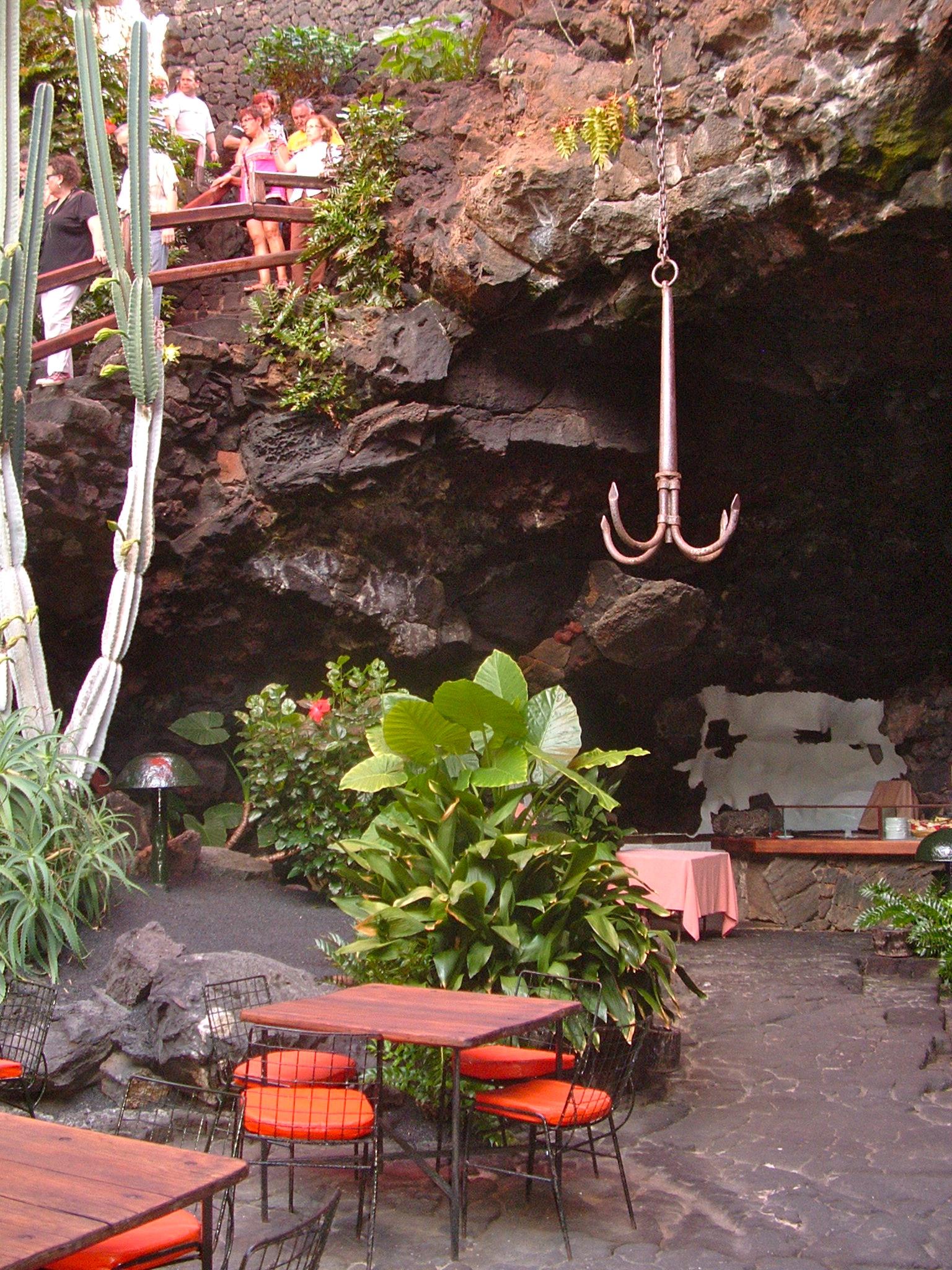 decoraciòn en los Jameos del agua-César Manrique-Lanzarote.