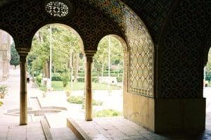jardín persa en el Palacio de Golestan en. Foto: Wikipedia.