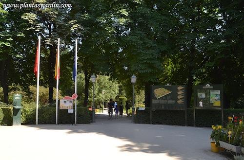 entrando al Real Jardín Botánico de Madrid.
