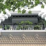 Balcón en la Avenida de Mayo. Foto: clarin.com