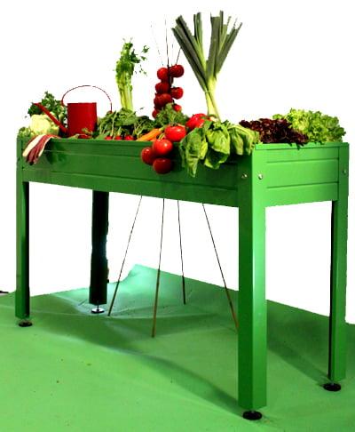 Un huerto en casa mesas de cultivo plantas jard n for Mesa de cultivo casera