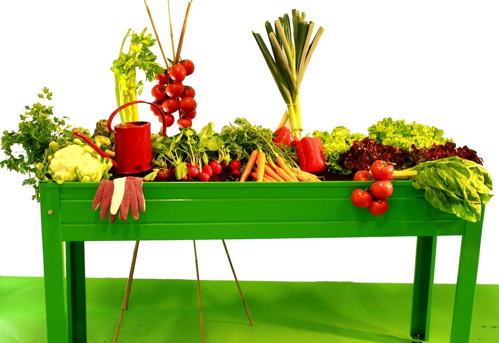 mesa de cultivo ideal para balcones, patios y terrazas