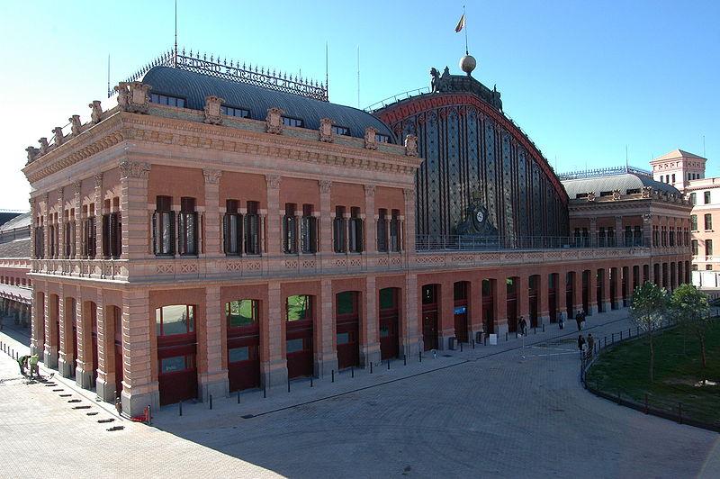 Estación de Atocha, fachada decimononica. Foto: Wikipedia
