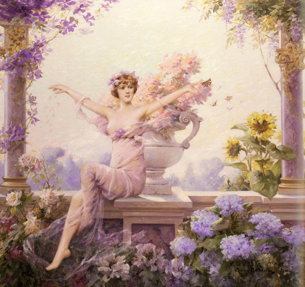 óleo de Flora de Louise Abbéma. Foto: Wikipedia