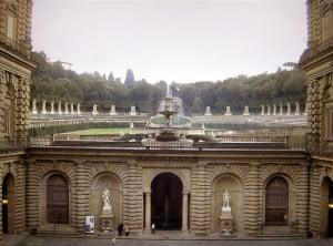vista del jardin de Boboli desde el palacio Foto Wikipedia
