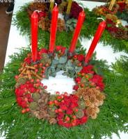 Coronas de adviento, decoracion navideña