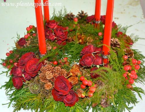 coronas de adviento decoración navideña