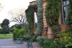 El jardín de la Villa Ocampo en San Isidro