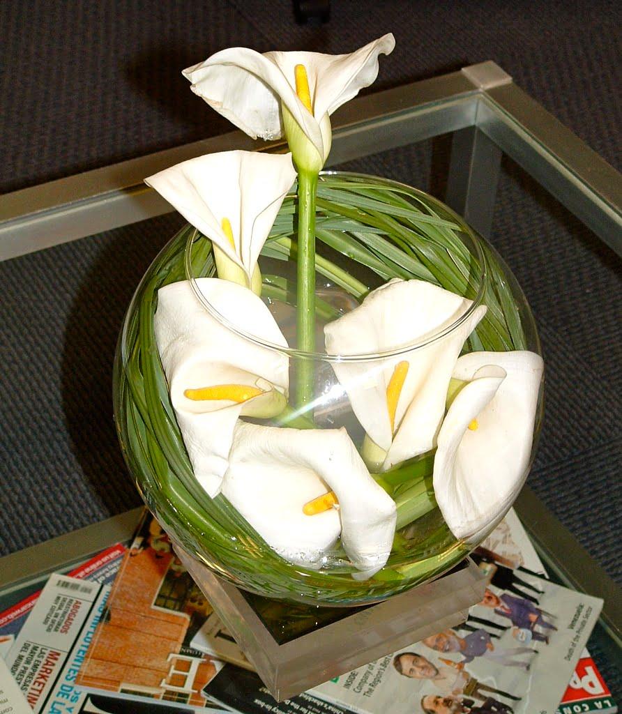 Arreglo floral con Zantedeschia aethiopica